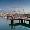 Boats at a harbor, Westhaven Marina, Auckland Region, Auckland, North Island, New Zealand