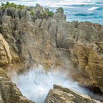 This is the Pancake Rocks in Punakaiki, New Zealand. (© Erica Jacques 2016)