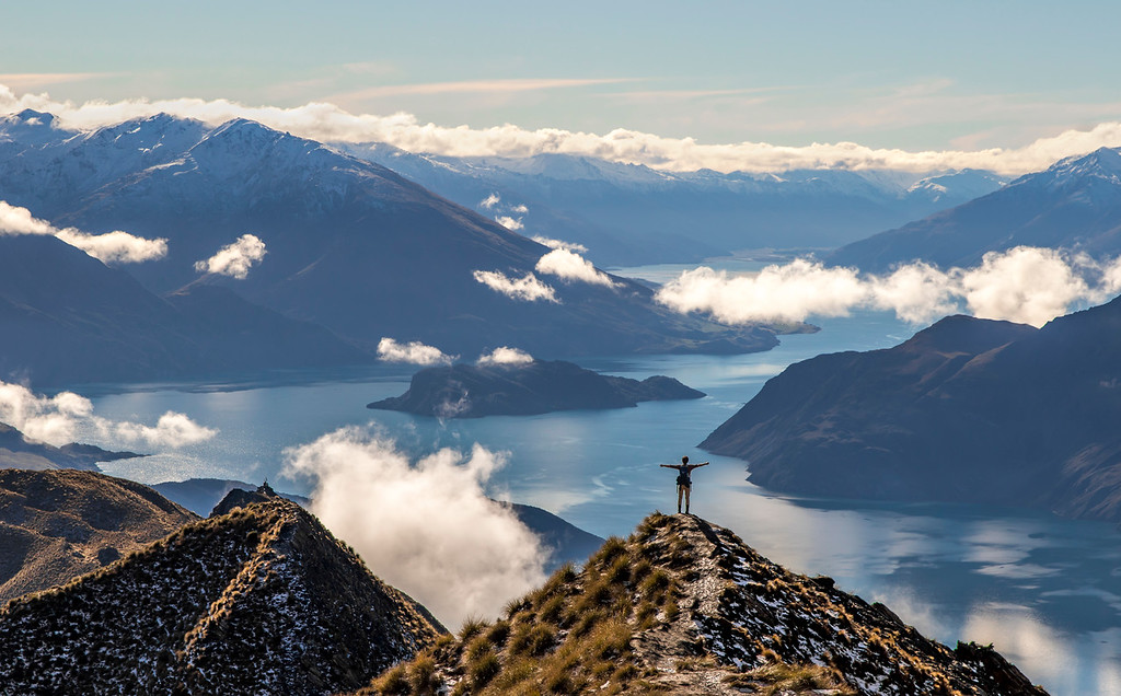 This is Roys Peak in Wanaka, New Zealand. (© Erica Jacques 2016)