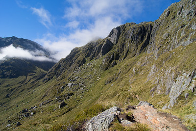 Routeburn, Looking down from Harris Saddle