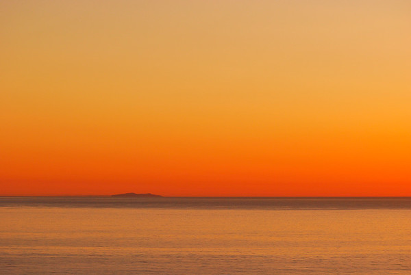 Santa Barbara Island at dusk, March 3, 2021