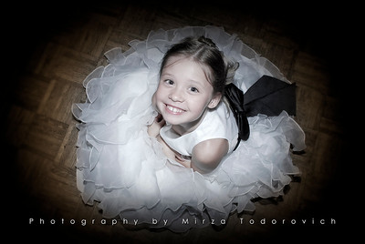 Smile of the flower girl
