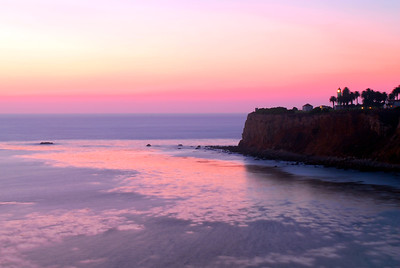 Pt. Vicente lighthouse after the sunset, November 16, 2011. 6:30PM