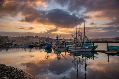 Bayfront morning paste skies