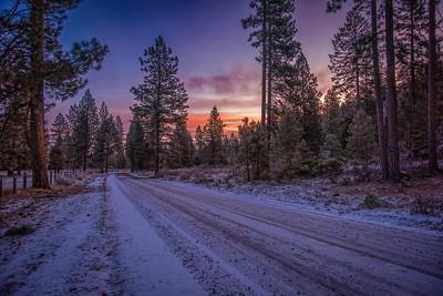 Oregon Winter Road