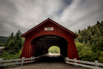 Fisher School Covered Bridge.