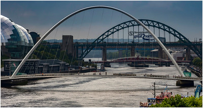 WALK OR CYCLE OVER THE SILVERY TYNE.  FROM TYNE STREET
