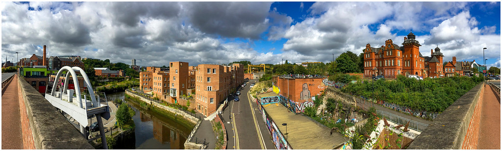 OUSEBURN VALLEY FROM THE GLASSHOUSE BRIDGE - i-PHONE
