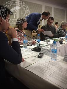 "Moderator Ruslan Urazalinov from the Embassy of Sweden, Viveka Hansen, The IK Foundation et al. at  ""The Linnaeus Apostles Bridge Builder Expeditions - Sweden, Kazakhstan, Kyrgyzstan & Russia. Including Launch of The Explorer's Field Guide""."
