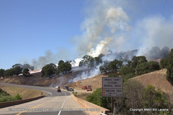 July 11, 2011 - Roadside fires along Hwy 49 Bypass
