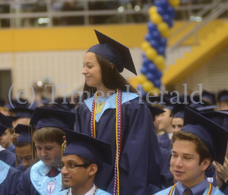 . Wissahickon High School celebrates their 2014 Graduation.  Thursday, June 12, 2014.  Photo by Adrianna Hoff/Times Herald Staff.