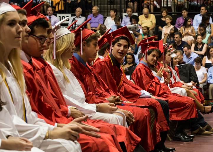 The graduating seniors of Harriton High School celebrated their 2015 Commencement at St. Joseph's University. Wednesday, June 10, 2015. Photos by Ed Barrenechea—The Times Herald.