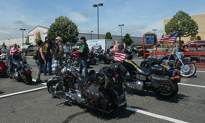 "18th Annual ""Day With a Vet"", a police escorted motorcycle ride with Rolling Thunder. Saturday, June 13, 2015. Adrianna Hoff—The Times Herald."