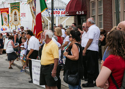 The Holy Saviour Feast in Norristown finished Sunday, Aug. 9, 2015, with a procession in front of the church on Main Street after Mass. Eddie Barrenechea - Times Herald