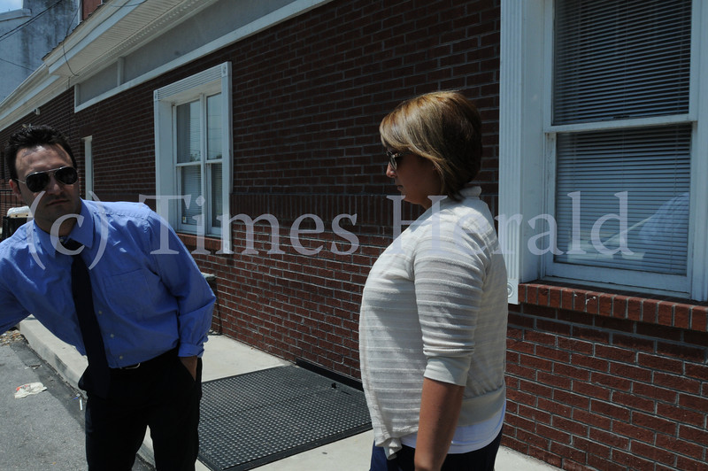 Eisenhower Science and Technology Leadership Academy teacher Jessica Streeper leaves District Justice Francis Lawrence after waiving her preliminary hearing on charges of having sexual contact with a student June 3, 2014. Photo by Gene Walsh / Times Herald Staff