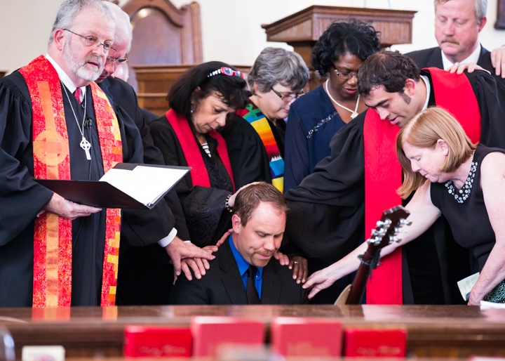 People gathered on June 28, 2015, at the First Presbyterian Church in Norristown to witness the ordination of the new pastor, Peter Martin. Photos for the Times Herald by Ed Barrenechea.