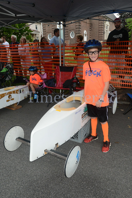 . Conshohocken kicks off their 63rd Soapbox Derby on the Fourth of July.  Friday, July 4, 2014.  Photo by Adrianna Hoff/Times Herald Staff.