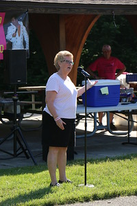 Phyllis Greco welcomes friends and family  who came out to Norristown Farm Park to raise money and support her her husband, Paul Greco, who will be participating in the 3 Day Walk for The Cure, June 7, 2015