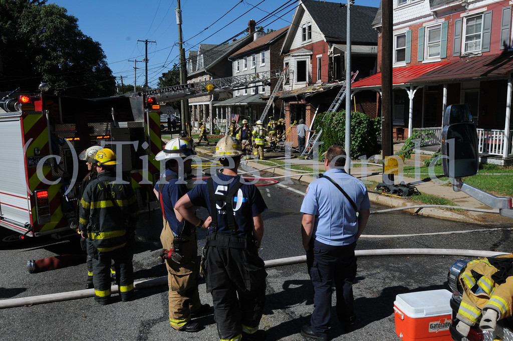 . Fire damages home at 209 Bridge St. in Upper Providence Sept. 17, 2013. Photo by Gene Walsh / Times Herald Staff
