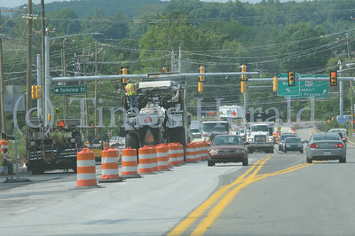 Construction progress along Trooper Road near Route 422 in West Norriton