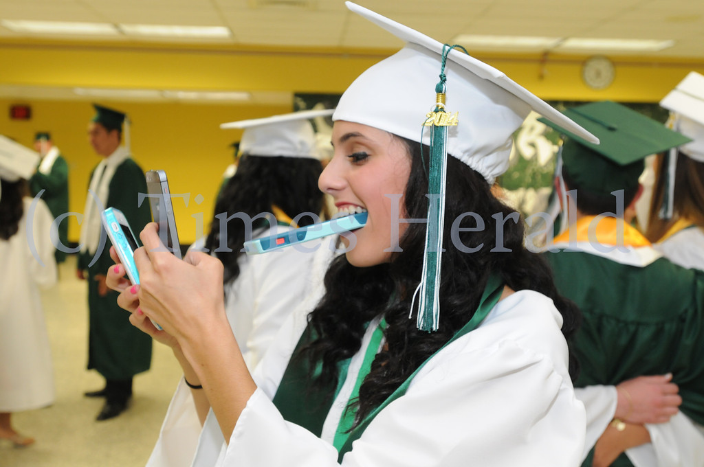 . Mewthacton seniors graduate during commencement ceremony in Worcester June 12, 2014. Photo by Gene Walsh / Times Herald Staff