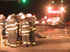 Hilltown Twp. firefighters investigate the scene of an accident in Montgomery Twp., PA