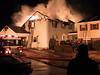 Towamencin, PA firefighters battle a fire