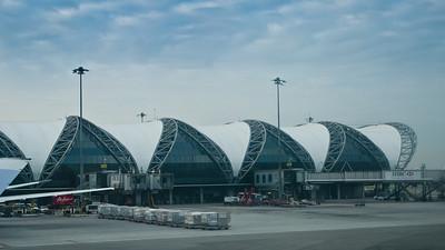 Letiště v Bankoku je architektonicky velmi zajímavé