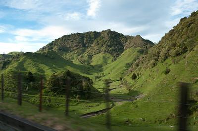 Na Zélandu pořád projíždíte mezi těmito krásnými kopečky