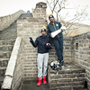 November 18, 2015 - NFL China Pittsburgh Steelers Super Bowl XLIII Champions Tour.  Ike Taylor and Ryan Clark with the Vince Lombardi Trophy on the Great Wall of China.