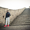 November 18, 2015 - NFL China Pittsburgh Steelers Super Bowl XLIII Champions Tour. Ike Taylor poses on the Great Wall of China.