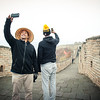 November 18, 2015 - NFL China Pittsburgh Steelers Super Bowl XLIII Champions Tour. Troy Polamalu and Ike Taylor take selfies on the Great Wall of China.