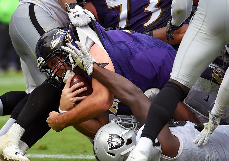 APTOPIX Raiders Ravens Football