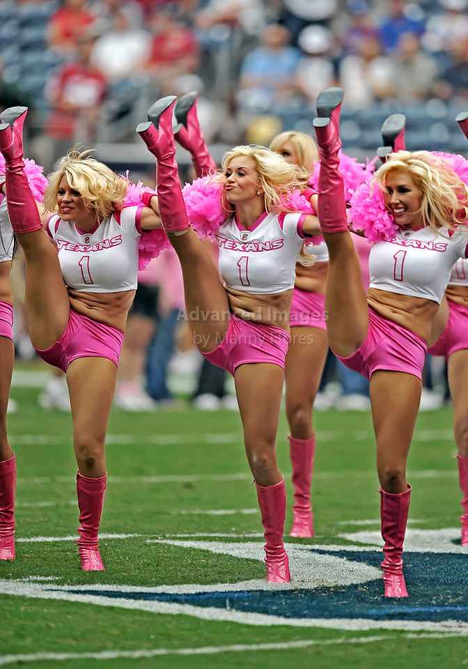 10 Oct 2010:  <br /> Houston Texans Cheerleaders perform<br /> in a game between the New York Giants and the Houston Texans at Reliant Stadium in Houston Texas.<br /> Giants win 34-10.