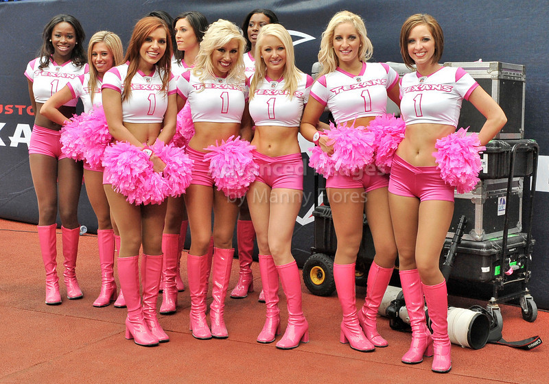 10 Oct 2010:  <br /> Houston Texans Cheerleaders pose for a picture<br /> after the  game between the New York Giants and the Houston Texans at Reliant Stadium in Houston Texas.<br /> Giants win 34-10.
