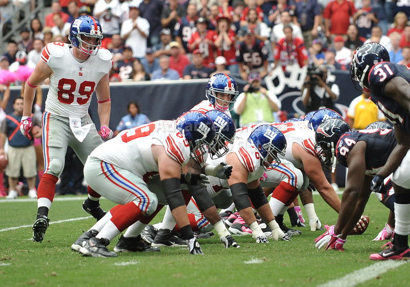Oct 10 2010:  <br /> New York Giants quarterback Eli Manning #10 in action in a game between New York Giants and the Houston Texans at Reliant Stadium in Houston, Texas.<br /> New York Giants win 34-10.<br /> (Credit Image: © Manny Flores/Cal Sport Media)