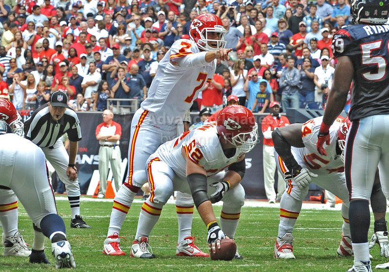 Oct 17 2010:  <br /> Kansas City Chiefs quarterback Matt Cassel #7 points at defense<br /> in a game between Kansas City Chiefs and the Houston Texans at Reliant Stadium in Houston, Texas.<br /> Houston wins 35-31<br /> (Credit Image: © Manny Flores/Cal Sport Media)