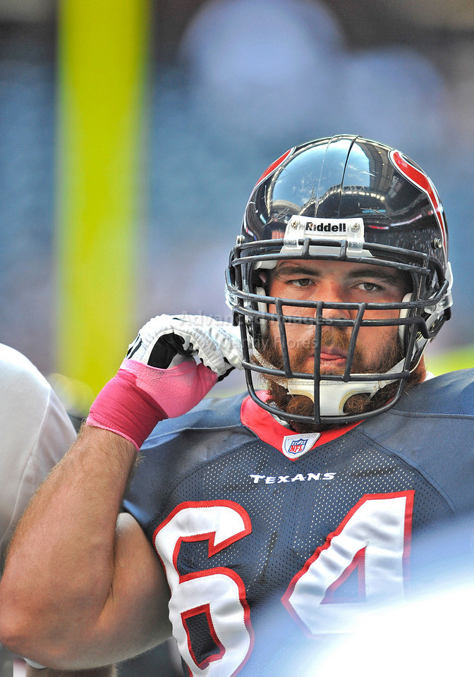Oct 17 2010:  <br /> Houston Texans guard Kasey Studdard #64 in action<br /> in a game between Kansas City Chiefs and the Houston Texans at Reliant Stadium in Houston, Texas.<br /> Houston wins 35-31<br /> (Credit Image: © Manny Flores/Cal Sport Media)