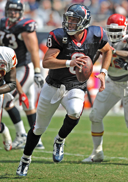 Oct 17 2010:  <br /> Houston Texans quarterback Matt Schaub #8 rolls out and passes the ball in a game between Kansas City Chiefs and the Houston Texans at Reliant Stadium in Houston, Texas.<br /> Houston wins 35-31<br /> (Credit Image: © Manny Flores/Cal Sport Media)