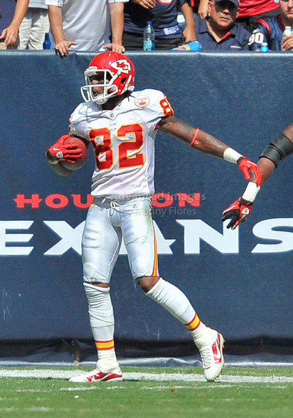 Oct 17 2010:  <br /> Kansas City Chiefs wide receiver Dwayne Bowe #82 is tackled in the end zone by Houston Texans defensive back Kareem Jackson #25 after a big gain in a game between Kansas City Chiefs and the Houston Texans at Reliant Stadium in Houston, Texas.<br /> Houston wins 35-31<br /> (Credit Image: © Manny Flores/Cal Sport Media)