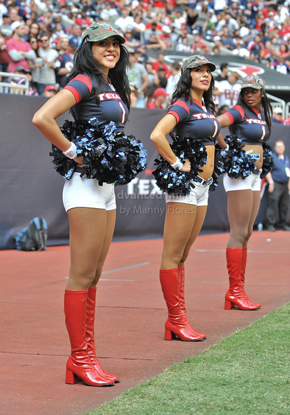 17 Oct 2010:  <br /> Houston Texans Cheerleaders perform <br /> in a game between the Kansas City Chiefs and the Houston Texans at Reliant Stadium in Houston, Texas.