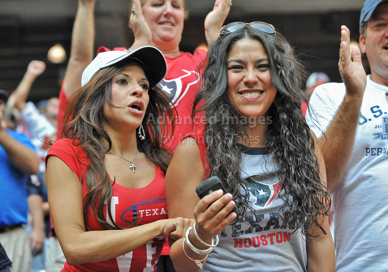 Oct 17 2010:  <br /> Houston Texans fans in action in a game between Kansas City Chiefs and the Houston Texans at Reliant Stadium in Houston, Texas.<br /> Houston wins 35-31<br /> (Credit Image: © Manny Flores/Cal Sport Media)