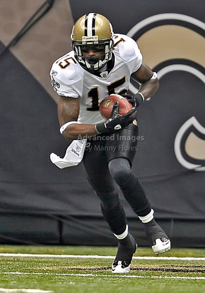 Sept 26 2010:  <br /> New Orleans Saints wide receiver Courtney Roby #15 returns the ball on special teams in a game between Atlanta Falcons vs New Orleans Saints at the Superdome in New Orleans, LA. <br /> Atlanta Falcons win in overtime 27-24<br /> (Credit Image: © Manny Flores/Cal Sport Media)