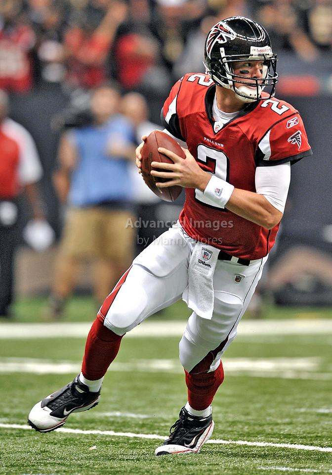 Sept 26 2010:  <br /> Atlanta Falcons quarterback Matt Ryan #2<br /> in a game between Atlanta Falcons vs New Orleans Saints at the Superdome in New Orleans, LA. <br /> Atlanta Falcons win in overtime 27-24<br /> (Credit Image: © Manny Flores/Cal Sport Media)