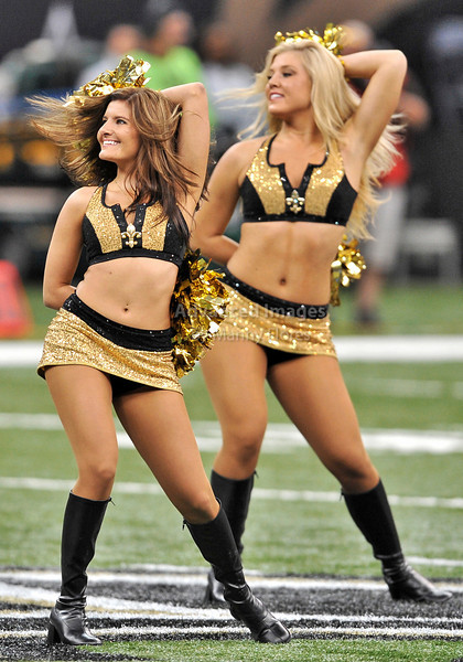 Sept 26 2010:  <br /> New Orleans Saints Cheerleaders perform<br /> in a game between Atlanta Falcons vs New Orleans Saints at the Superdome in New Orleans, LA. <br /> Atlanta Falcons win in overtime 27-24<br /> (Credit Image: © Manny Flores/Cal Sport Media)