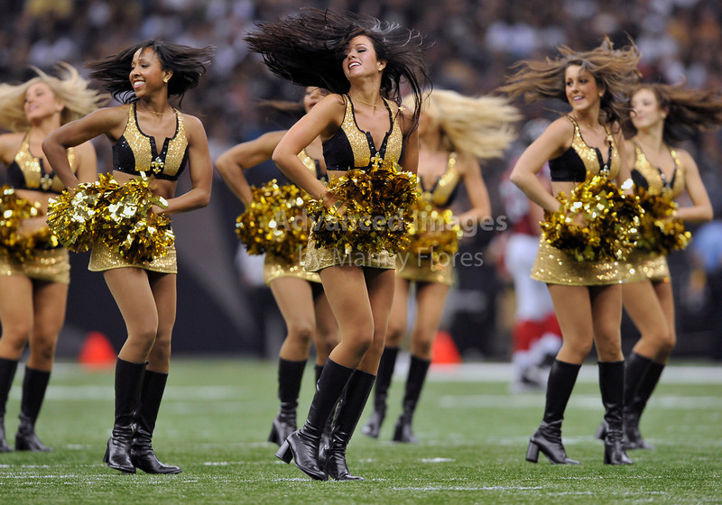 Sept 26 2010:  <br /> New Orleans Saints Cheerleaders in action<br /> in a game between Atlanta Falcons vs New Orleans Saints at the Superdome in New Orleans, LA. <br /> Atlanta Falcons win in overtime 27-24<br /> (Credit Image: © Manny Flores/Cal Sport Media)