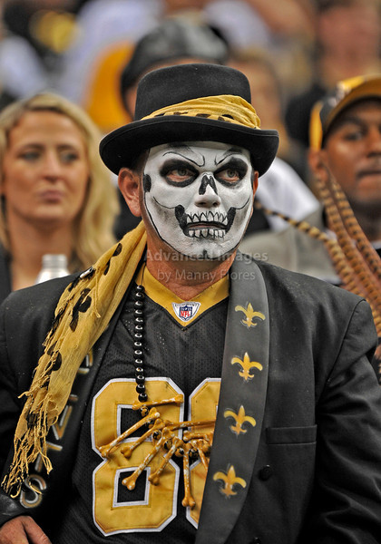 OCT 31 2010:  <br /> New Orleans Saints fans cheer for their team<br /> in a game between Pittsburgh Steelers and New Orleans Saints at the Louisiana Superdome Stadium in New Orleans, LA.<br />  Saints win 20-10<br /> (Credit Image: © Manny Flores/Cal Sport Media)