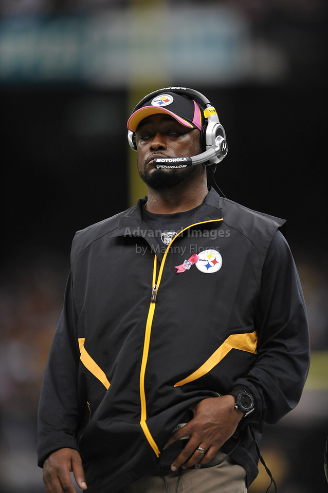 OCT 31 2010:  <br /> Pittsburgh Steelers head coach Mike Tomlin in action during the game between Pittsburgh Steelers and New Orleans Saints at the Louisiana Superdome Stadium in New Orleans, LA.<br />  Saints win 20-10<br /> (Credit Image: © Manny Flores/Cal Sport Media)
