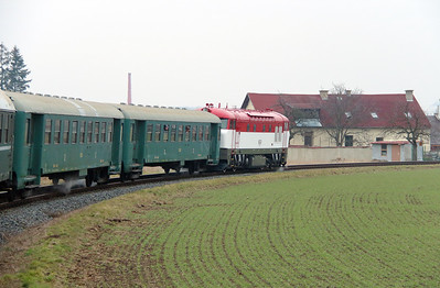T478 1001 (90 54 3751 001-9 CZ-CD) at Myslechovice on 6th February 2016 working Railtour (1)