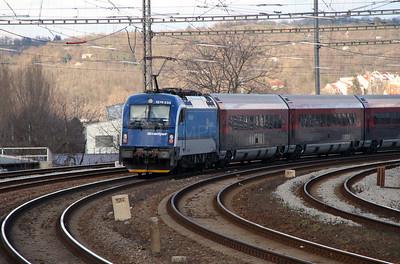 OBB, 1216 233 outside Brno Malomerice on 5th February 2016 (4)